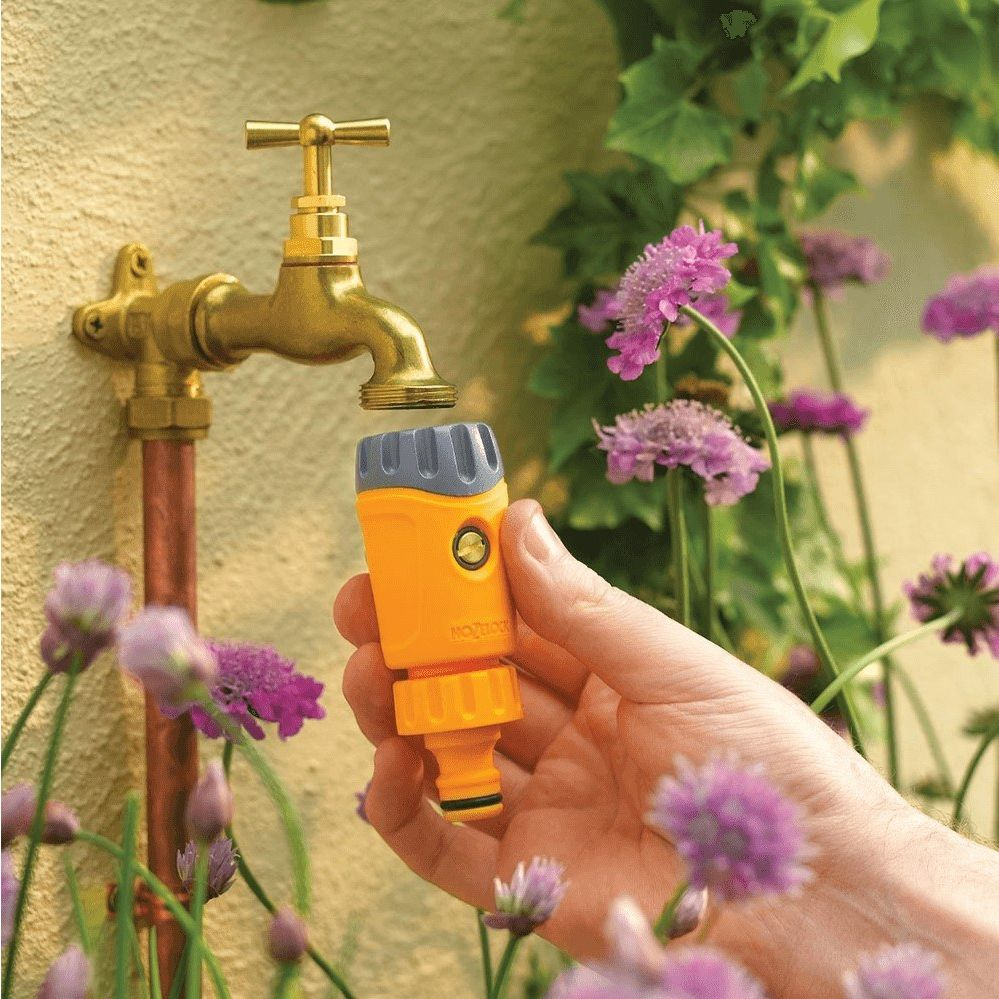 HOZE LOCK 1//2 WATER FITTING CONNECTOR HOSE 3//4 PIPE HOUSE  GARDEN TAP OUTSIDE