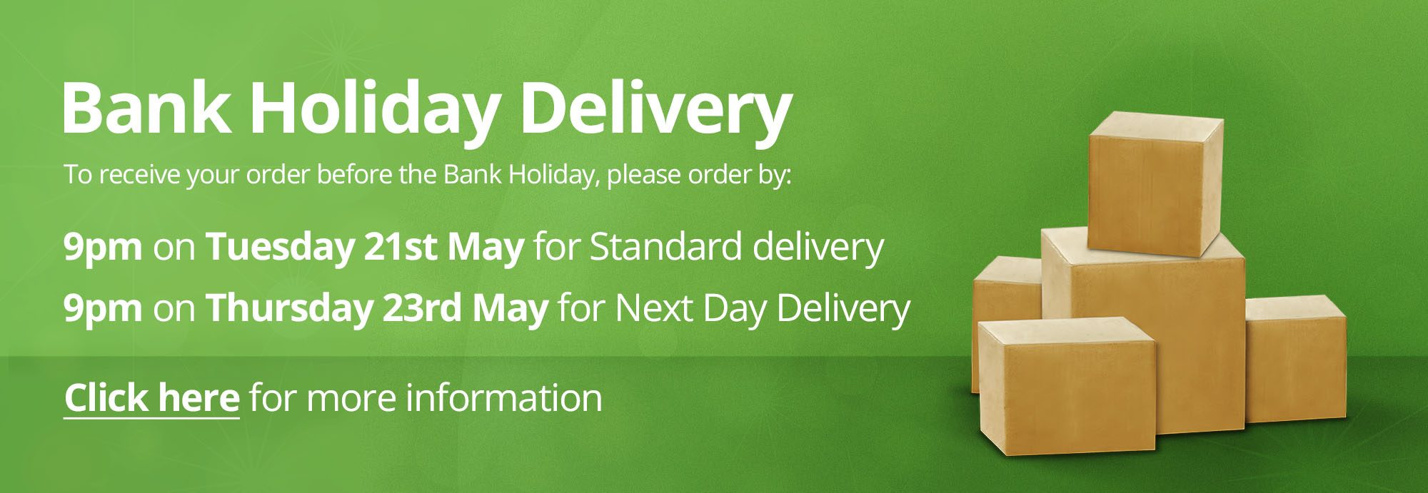 Bank Holiday Delivery