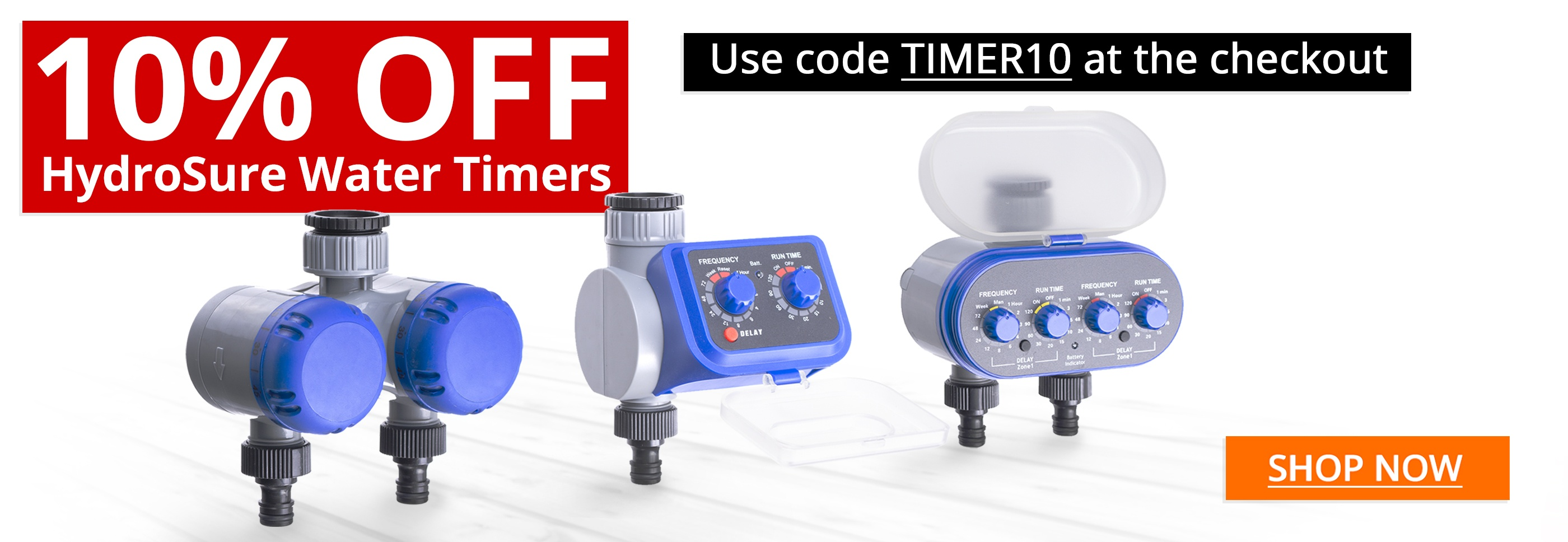 HydroSure Water Timers - 10% OFF